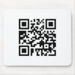 QR Barcode: Wanna have a drink with me? Mouse Pads