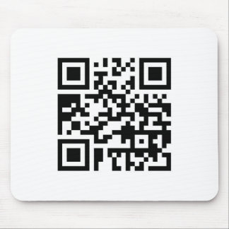 QR Barcode: Wanna have a drink with me? Mouse Pad