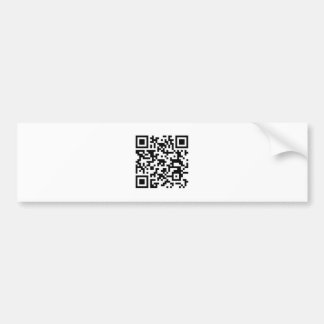 QR Barcode You are beautiful when you smile! Bumper Sticker
