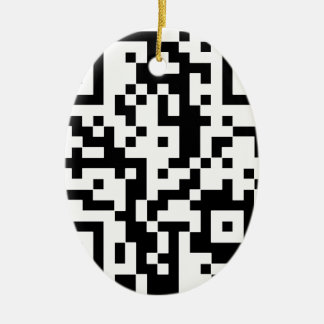 Qr BASIC Ceramic Ornament