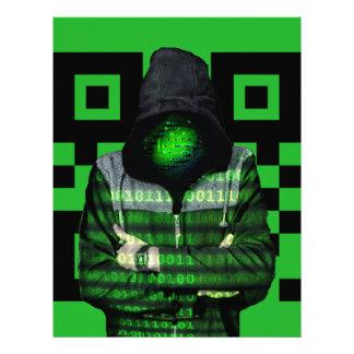 QR Binary Letterhead