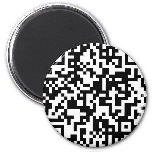 QR Code 2 Inch Round Magnet
