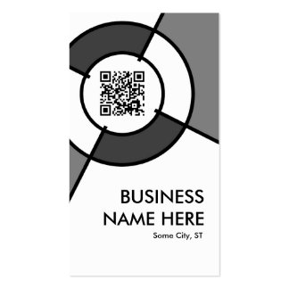 QR code and logo target Double-Sided Standard Business Cards (Pack Of 100)