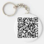 QR Code Basic Round Button Keychain