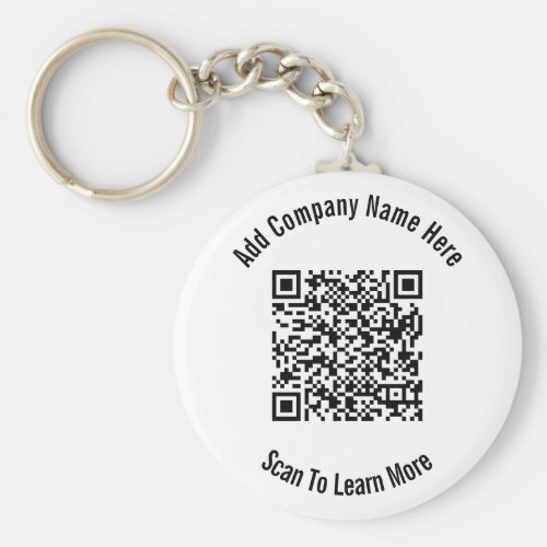 QR Code Black and White Business Template  Keychain