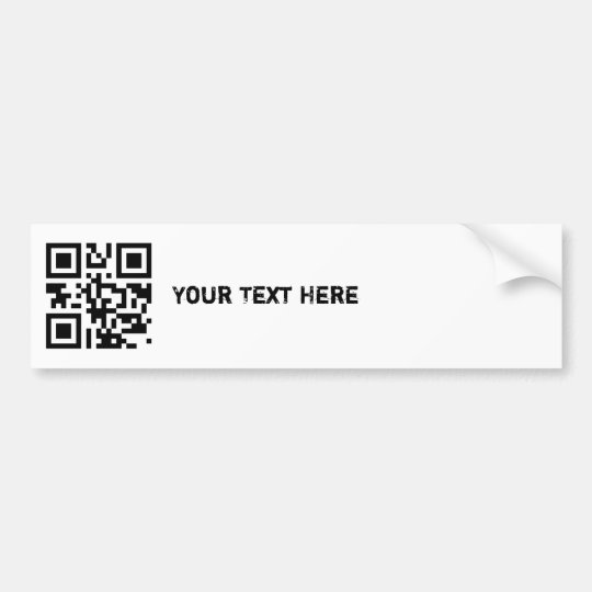 QR Code Bumper Sticker Template Zazzlecom - Bumper sticker template