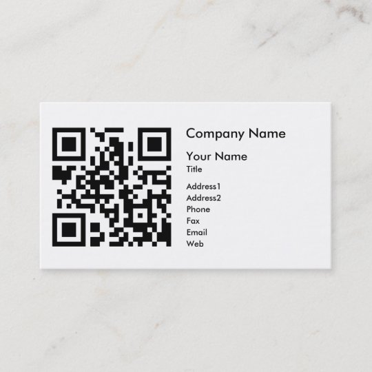 Qr code business card template horizontal zazzle qr code business card template horizontal flashek Images
