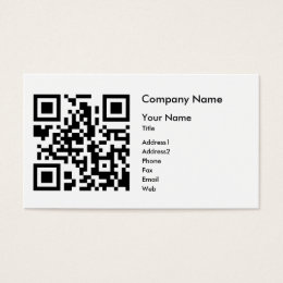 Barcode business cards templates zazzle qr code business card template horizontal colourmoves