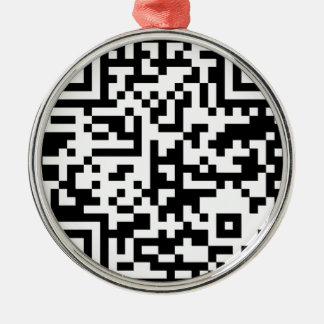QR Code Código Metal Ornament
