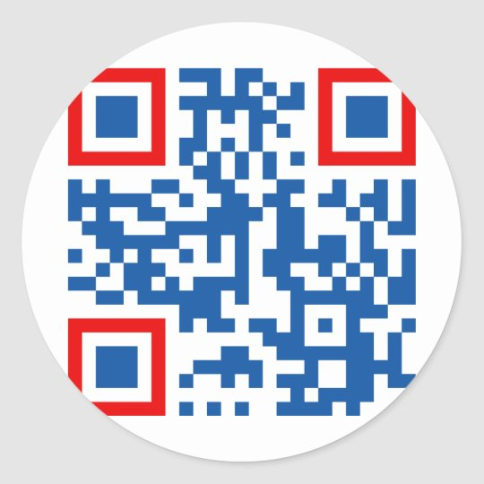 QR-Code-Commonwealth-of-Aus Classic Round Sticker