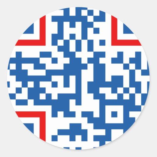 QR-Code-Commonwealth-of-Aus Round Sticker