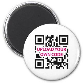 QR Code Customizable 2 Inch Round Magnet