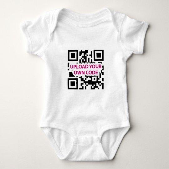 QR Code Customizable Baby Bodysuit