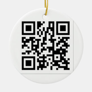 QR Code Derrick the Artist Ceramic Ornament