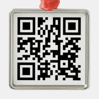 QR Code Derrick the Artist Metal Ornament