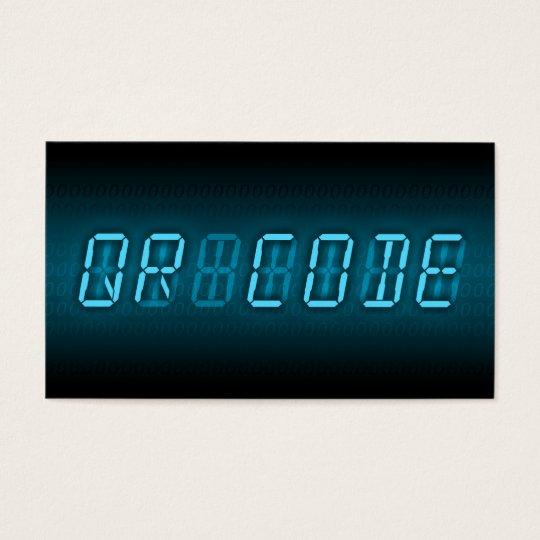 QR CODE : digital readout Business Card