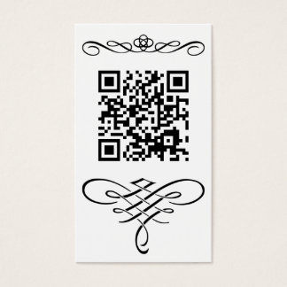 QR code flourish Business Card