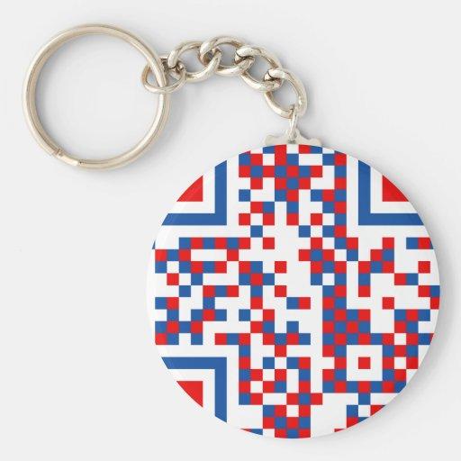 QR-Code-français Keychain