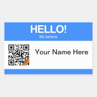 QR Code Hello Sticker