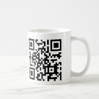 QR Code How Now Brown Cow? Classic White Coffee Mug