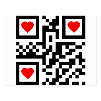 QR-Code-I-Love-You Postcard