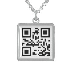Qr Code I Love You Sterling Silver Necklace at Zazzle
