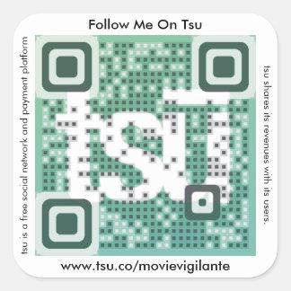 QR Code Invitation Square Sticker
