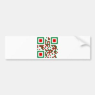 qr-code italia etiqueta de parachoque