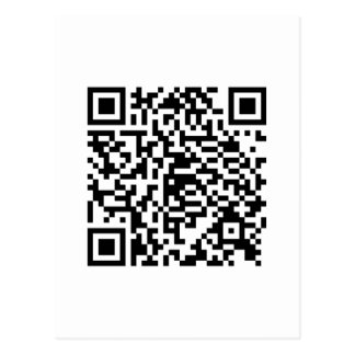 QR Code Junkie Style Postcard