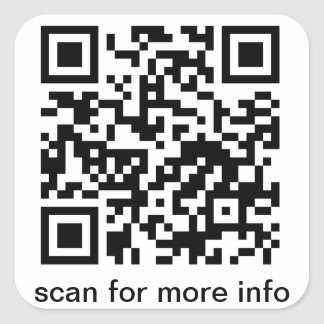 QR Code Large Square Square Sticker