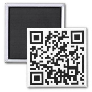 QR CODE 2 INCH SQUARE MAGNET