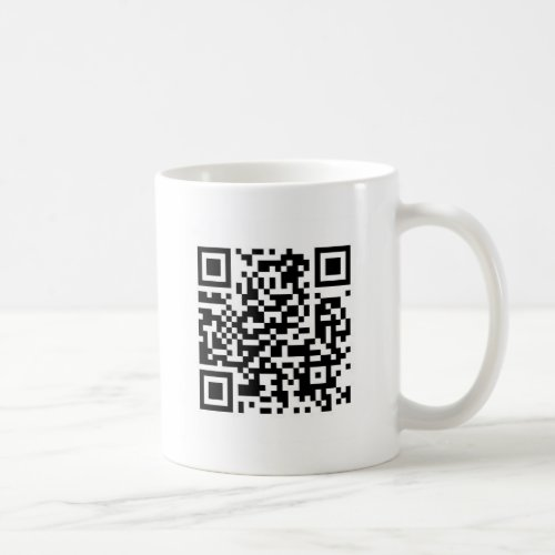 QR code Make the world a better place with your  Coffee Mug