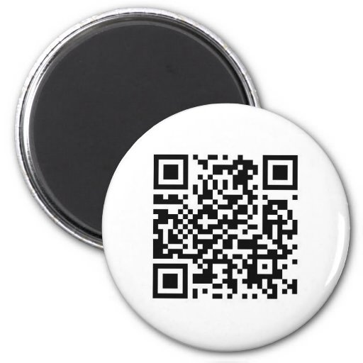 QR code Make the world a better place with your .. 2 Inch Round Magnet
