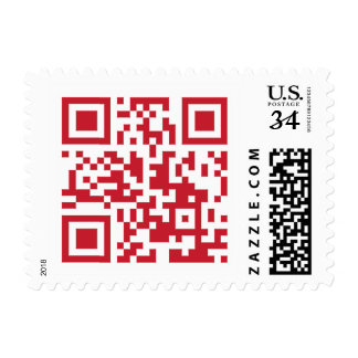 QR Code Merry Christmas Funny Geek stamps