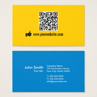 QR Code Minimalist Promotional Business Card