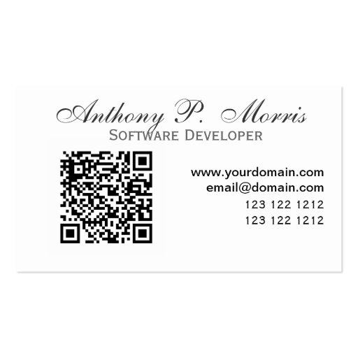 QR-code Modern Unique Promotional Designs Business Cards