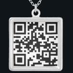 """QR Code Necklace<br><div class=""""desc"""">Your QR Code on a necklace!</div>"""