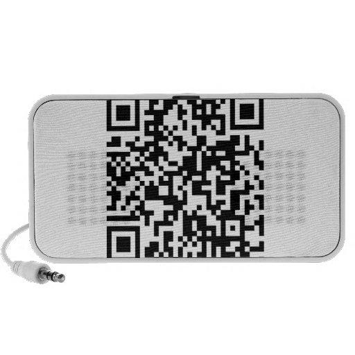 QR Code Notebook Speakers