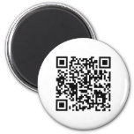 """qr code """"Point that phone somewhere else please"""" 2 Inch Round Magnet"""