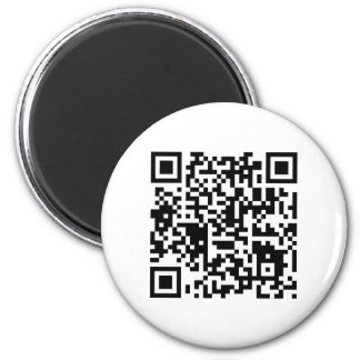 "qr code ""Point that phone somewhere else please"" 2 Inch Round Magnet"