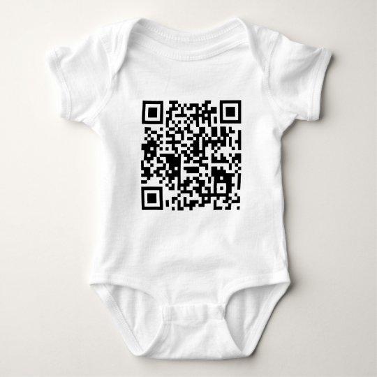"qr code ""Point that phone somewhere else please"" Baby Bodysuit"