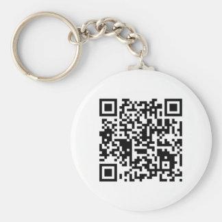 "qr code ""Point that phone somewhere else please"" Basic Round Button Keychain"
