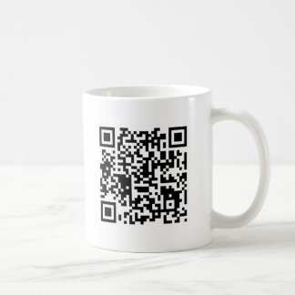 "qr code ""Point that phone somewhere else please"" Classic White Coffee Mug"