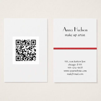 QR Code (Quick Response Code) - Black White Business Card