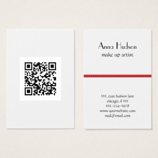 QR Code (Quick Response Code) - Black White Business Card
