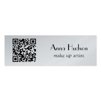 QR Code (Quick Response Code) - Black White Double-Sided Mini Business Cards (Pack Of 20)
