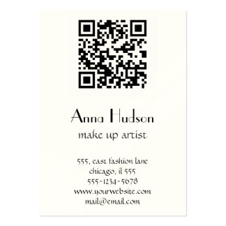 QR Code (Quick Response Code) - Black White Large Business Card
