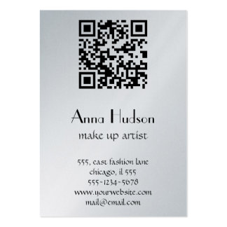QR Code (Quick Response Code) - Black White Large Business Cards (Pack Of 100)