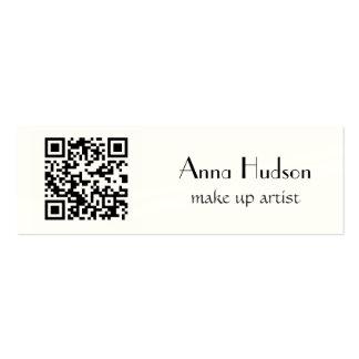 QR Code (Quick Response Code) - Black White Mini Business Card