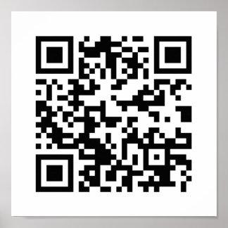 QR Code (Quick Response Code) - Black White Poster